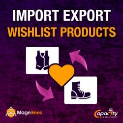 Import Export Wishlist Products