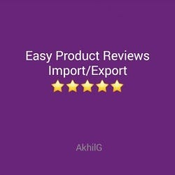Easy Product Reviews Import Export