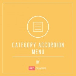Category accordion menu