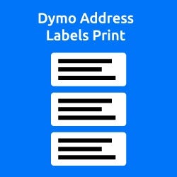 Dymo Address Label Print