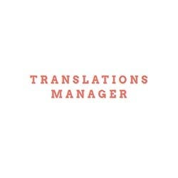 Translations Manager